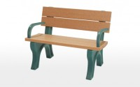 Traditional 4 Foot Backed Bench With Arms