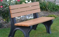Deluxe 4 Foot Backed Bench