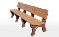 Traditional 8 Foot Backed Bench