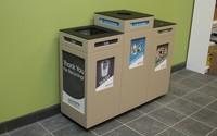Pedestal Recycling Station – Triple Stream
