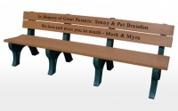 Traditional 8 Foot Message Bench