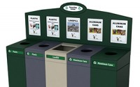 Small Top Loading Recycling Station – 5 Stream