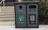 Excel Dome Top 35 Gallon Double Waste & Recycling Station