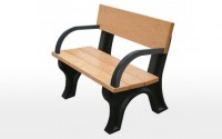 Landmark 4 Foot Backed Bench With Arms