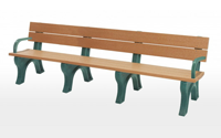 Traditional 8 Foot Backed Bench With Arms