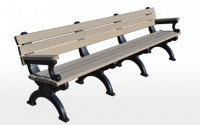 Silhouette 8 Foot Backed Bench With Arms