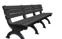Silhouette 8 Foot Backed Bench