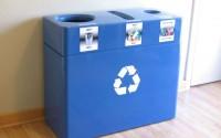Fiberglass Triple Stream Recycling Bin