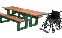 Poly Tuff ADA Step Thru | Eco-Friendly & Sustainable Picnic Table
