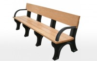 Landmark 8 Foot Backed Bench With Arms