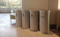 RecyclePro 23 Gallon Quad Stream | Modular Aluminum Receptacle