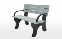 Deluxe 4 Foot Backed Bench With Arms