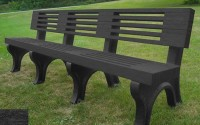 Elite 8 Foot Backed Bench