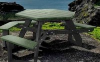 Economizer Hexagon Universal Access Picnic Table