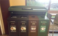 Front Service Tray Top Quad Recycling Station
