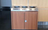 Convention Triple Stream | Stainless Steel Designer Recycling Bin
