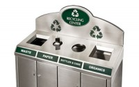 Compound Quad Stream | Stainless Steel Recycling Bin