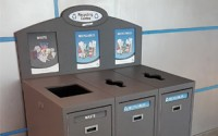 Front Service Recycling Station – Triple Stream