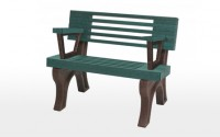 Elite 4 Foot Backed Bench With Arms