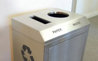 Convention Double Stream | Stainless Steel Designer Recycling Bin