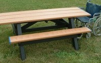 Standard ADA Compliant Double Access Picnic Table