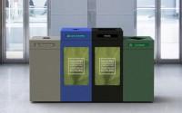 Pedestal Recycling Station – Quad Stream