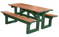 Poly Tuff 6 Foot Step Thru | Eco-Friendly & Sustainable Picnic Table