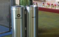 RecyclePro 15 Gallon Double Stream | Modular Aluminum Receptacle