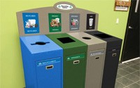 Front Service Recycling Station – Quad Stream