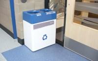 Fiberglass Small Double Stream Recycling Bin