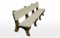 Deluxe 8 Foot Backed Bench