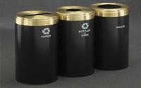 RecyclePro 41 Gallon Triple Stream | Modular Aluminum Receptacle