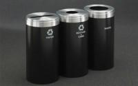 RecyclePro 23 Gallon Triple Stream | Modular Aluminum Receptacle