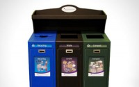 Front Service Tray Top Recycling Station