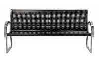 Skyline 4ft Black & Stainless Steel Bench