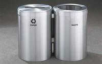 RecyclePro 41 Gallon Double Stream | Modular Aluminum Receptacle