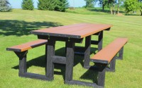 Poly Tuff 8 Foot Step Thru | Eco-Friendly & Sustainable Picnic Table