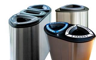 Boka Stainless Steel Recycling Bins