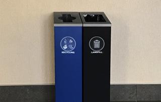 Indoor Steel Double Stream Recycling Bins