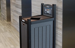 Indoor Recycled Plastic Lumber Single Stream Receptacles