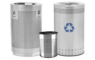 Canister Recycling Receptacles