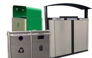 Outdoor Trash & Recycle Bins