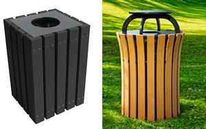 Coordinating Trash & Recycle Bins