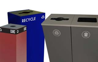 Cube & Square Recycle Bins