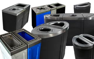 Evolve Recycling Stations & Receptacles