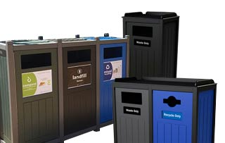 Excel Flat Front Loading Recycling Stations