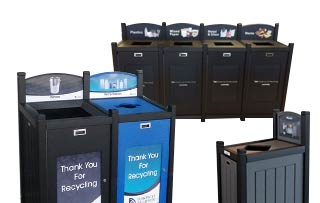 Excel Flat Top Loading Recycling Stations