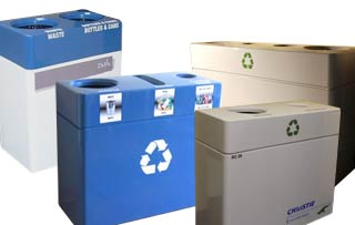 Fiberglass Recycling Bins