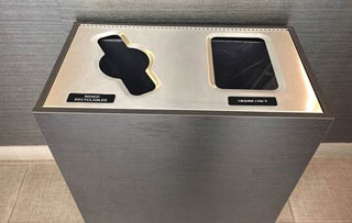 Double Stream Waste & Recycling Bins Indoor Double Stream Commercial Recycling Bins