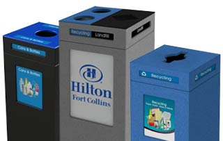 Indoor Square Recycling Receptacles